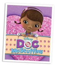 Free Doc McStuffins printables. Has stethoscope and book of boo boos.