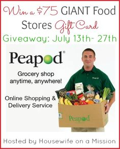 Housewife on a Mission: Online Grocery Shopping & Delivery Service with Peapod | Review + a $75 GIANT Food Stores Gift Card Giveaway