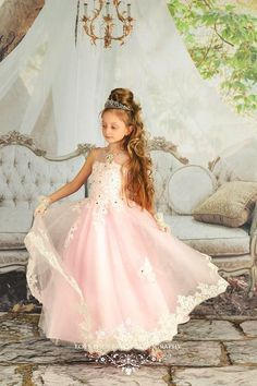 A couture pageant gown. Girls Bridesmaid DressesGirls Pageant  DressesPageant GownsFlower Girl DressesFlower GirlsKids Formal ... d94497cf44f0
