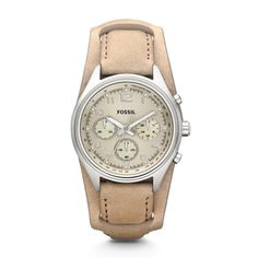 Flight Chronograph Leather Watch - Sand CH2794 | FOSSIL®