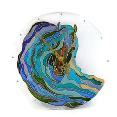Items similar to Horses wall clock Unusual wall clock Horses decoration Horses wall art Horses lover gift Stained glass Unique wall clock Modern wall clock on Etsy Handmade Wall Clocks, Unique Wall Clocks, Gifts For Horse Lovers, Gift For Lover, Modern Clock, Modern Wall, Stained Glass Paint, Horse Wall Art, Painted Cups