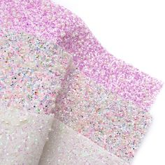 Pearl Snowballs Chunky Glitter Fabric Sheets Glitter Fabric, Craft Shop, Snowball, Craft Supplies, Amethyst, Velvet, Bows, Colours, Pearls