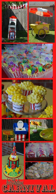 Popcorn cupcakes, carnival food