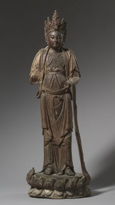 Standing Guanyin, China, Southern Song dynasty wood with traces of gesso, polychromy and gilding, Overall - cm inches). Severance Fund Cleveland Museum of Art © 2013 Cleveland Museum of Art. Ancient China, Ancient Art, Cleveland Museum Of Art, Taoism, Guanyin, Buddhist Art, Chinese Art, Asian Art, Sculpture