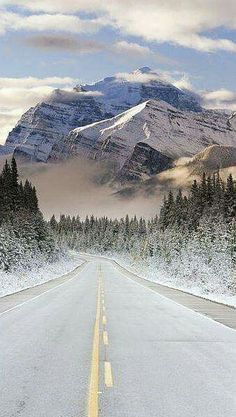 The Icefields Parkway, Banff-Jasper National Parks, Rocky Mountains, Canada
