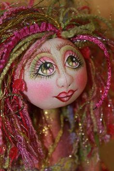 OOAK Cloth Art Doll Nixie by Donna Cooper. mariakelley1024
