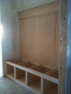 How To Build A Mudroom Bench Crafts For The Home Pinterest And House