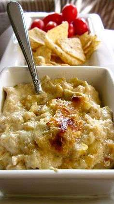 Artichoke dip...different from the one I love, but I might have to try...