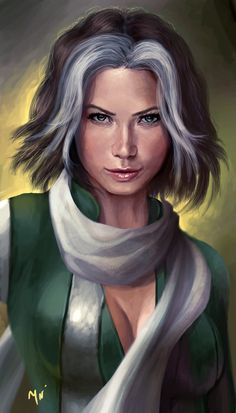 This drawing of rogue is better than the character they played off in the xmen movies. Geez