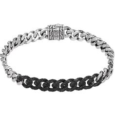 John Hardy Classic Chain Lava Small Link Bracelet ($735) ❤ liked on Polyvore featuring jewelry, bracelets, accessories, silver, chains jewelry, engraved jewelry, 18k bangle, hand crafted jewelry and john hardy bangles