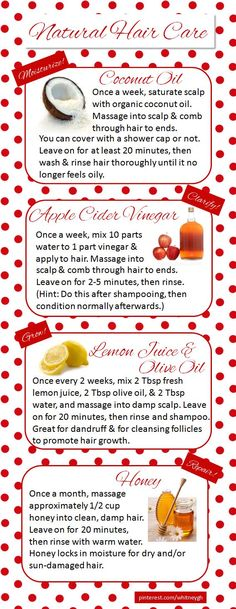 cool DIY Natural Hair Care (with recipes)...