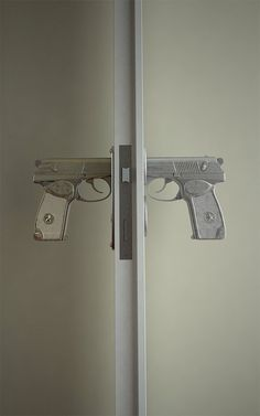 Gun Door Handle - I can see Jessica and Adam having and LOVING this :)