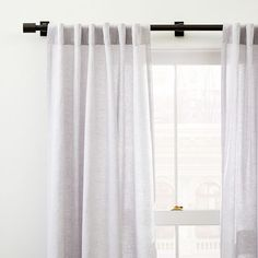 Simple and streamlined, the Oversized Metal Rod includes mounting hardware, so it's simple to hang your West Elm curtains. Teen Furniture, Small Furniture, Furniture Decor, West Elm Curtains, Curtains Living, Metal Curtain, Curtain Rods, Cotton Curtains, African Mud Cloth