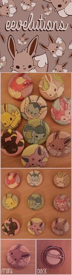 #eevee #espeon #ninfia #sylveon #flareon #jolteon #umbreon #badges #sale #leafeon #pokemon #cute #kawaii #buy #manga #anime #handmade #homemade 1 badge: 2,00€ (2,60 USD)  2-3 badges: 1,90€ each (2,50 USD)  4 badges or more: 1,80€ each (2,40 USD)  whole set: 15,00€ (20 USD)