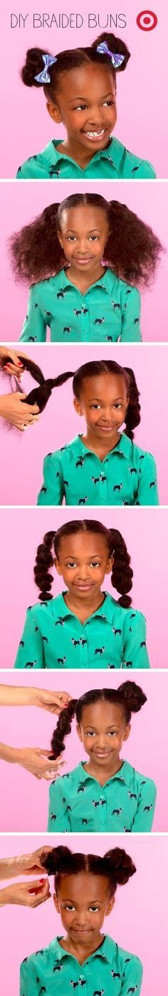 LANAYEL : Beautés Noires, Métisses et du Tout-Monde: Idée de coiffure simple pour petite fille