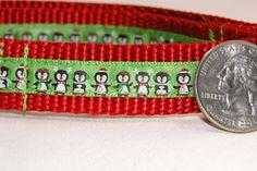 Christmas - Holiday - Penguins - Small Dog Collar