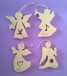 """Addobbi natalizi in legno per albero """"Gli Angeli del Natale"""" (Cod. NAT001)"""