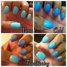 "My Nail game this week! Perfect Match Mood Gel color ""Skies The Limit"""