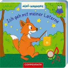 Mini-Karaoke: Ich geh mit meiner Laterne. Lustiges Buch zum Hören und Mitsingen.