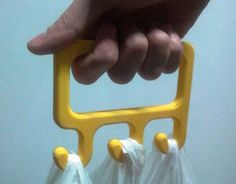 If you need a hand with the groceries, you can print a bag holder to make it a little easier.