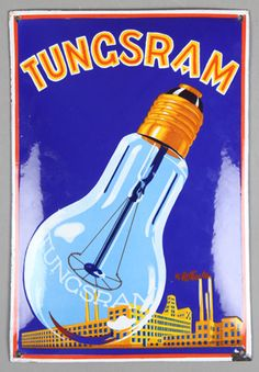Tungsram light bulbs advertising poster Retro Advertising, Vintage Advertisements, Vintage Ads, Vintage Designs, Vintage Light Bulbs, Cool Typography, Love Posters, Poster Ads, Creative Posters