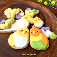 インコとビオラのアイシングクッキー♡の画像 | アイシングクッキーをもっと可愛く♪世田谷クッキー教室 Sunbaked…