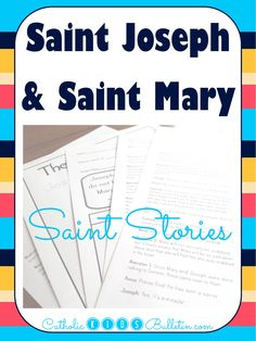 Catholic Kids Bulletin Saint Stories! Reader Theater Style skits to help your kiddos learn about Jesus' childhood with Saint Mary and Saint Joseph!