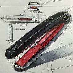 Sketch Design, Design Model, Design Art, Sketch Inspiration, Design Inspiration, Design Bauhaus, Pink Drawing, Render Design, Industrial Design Sketch