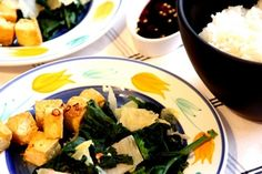 Chili-Lemongrass-Tofu mit Spinat und Chinakohl