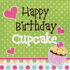 Sweet Treats! Luncheon Napkin, 3 Ply, Happy Birthday (192/case)