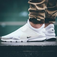"#onfeet: @nike Sock Dart ""White"" - 1/3 of the ""Independence Day"" pack. Releasing June 25 at @soleboxhikmet."