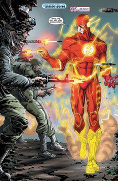 Flash Comic - The Flash! Comic Book Characters, Comic Book Heroes, Comic Character, Comic Books Art, Comic Art, Flash Comics, Arte Dc Comics, Dc Comics Art, O Flash