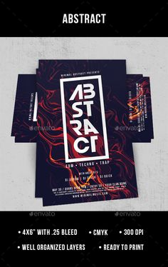 Abstract Flyer Template PSD