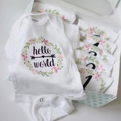 Baby Girl Milestone Onesies – Baby For look here Baby Milestone Blanket, Shops, Textiles, Baby Milestones, Diy For Girls, Baby Month By Month, Baby Love, Baby Baby, Baby Boy Outfits