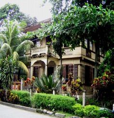 National Registry of Historic Sites and Structures in the Philippines: Augusto Hilado Severino Heritage House* Filipino Architecture, Philippine Architecture, Bamboo House, Bamboo Palace, Filipino House, Bali, Philippine Houses, Spanish Colonial, Stone Houses