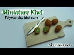 ▶ Miniature Kiwi tutorial - Polymer clay cane - YouTube