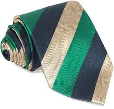 Green Gold Navy Stripe Silk Tie A superb diagonal stripe tie with colours green, gold and navy blue on a stripe textured silk tie. http://www.comparestoreprices.co.uk/ties/green-gold-navy-stripe-silk-tie.asp