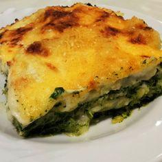 Spenótos-lasagna ricottával, mascarponéval és gorgonzolával