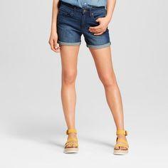 7f7b061827c8f7 Women s High-Rise Midi Length Jean Shorts - Universal Thread™ Dark Wash