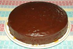 To Die For Chocolate Cake for Howard on yellow platter