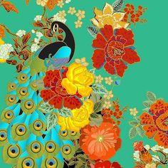 Estampa mais linda da @adrianabarra ❤️ Bom dia, pessoal! #peacock #print