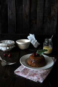 Steamed Cranberry Pudding with Vanilla-Orange Sauce