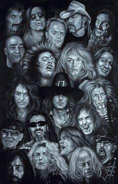 Metal Heroes (Ozzy Scott Ian Metallica Lemmy David Lee Roth Van Halen Led Zeppelin ) Poster Fotografía en AllPosters.es