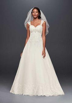 David's Bridal Jewel Style WG3838 A-Line Wedding Dress