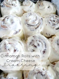 Cinnamon Rolls with Cream Cheese Frosting.