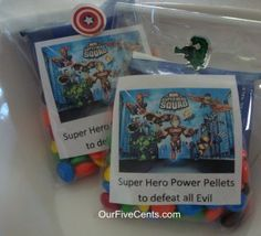 Super cute Avengers birthday party for little boys