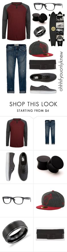 """Untitled #92"" by ohhhifyouonlyknew ❤ liked on Polyvore featuring Ergo, Abercrombie & Fitch, Vans, Ray-Ban, Blue Nile, dyke, my style, vans, my creations and awesome"