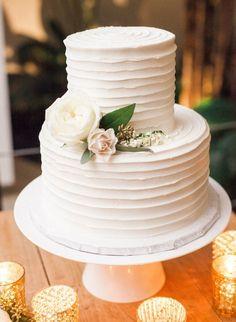 featured photographer: The Great Romance Photos; modern chic wedding cake idea