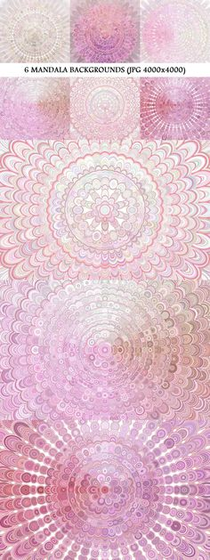 6 Floral Mandala Backgrounds #bohemian #design #chic #backdrop #behance #floral #graphicdesign #decoration #PinkBackground #pink #graphics #BackgroundGraphics #mandala #backgrounds #art #flower #BackgroundDesigns #feminine #boho