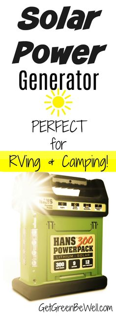 RVers need this generator! Powered by the sun, this portable generator charges phones, laptops, fans, TVs, ovens and more! The solar panels supply solar power that lasts forever! #RV #RVlife #rvliving #rvlifestyle #offthegrid #solarpower